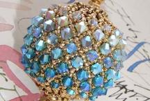 beaded christmas ornaments / by Cheryl Barnes