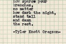 Gregson and Andreas Poems / Tyler Knott Gregson and Brian Andreas / by Brittany Brown