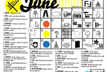 30 Days of Creativity Calendar 2012 / http://30daysofcreativity.com/ / by Federica Buso