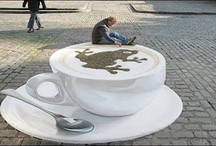 Cool 3D Street Art / A cool collection of 3D street art. All these pieces of art are flat 2D drawings/paintings. You'd be amazed how big these things are in real life / by Tradesman4u.com