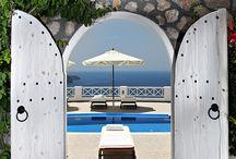 My beautiful blue Villa  Mediterranean style  / by Melpomene Selemidis