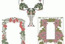 Floral designs / Floral designs are available in all common formats: .dwg, .eps and .svg. / by Craftsmanspace Jan