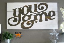 Signs / by Gina's Craft Corner
