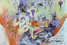 Illustration / d e la gött / by Evelina Mohei
