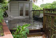 BACKYARD SHEDS + OFFICES  / Backyard sheds, studios and office space. / by Tonia Lee