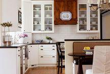 Decor: Kitchens / White Kitchen Decor / by Diane Henkler {InMyOwnStyle.com}