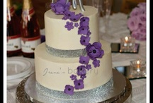 My wedding / Plum silver white and black  / by Chelsey Coker