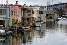 Float Homes / float homes and houseboats / by Judy Crawford