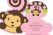 Monkey Girl Baby Shower / Monkey Girl Baby Shower Ideas / by Maternity and Baby Showers