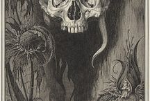 Skulls & Skeletons / by Bats Day in the Fun Park / Art of Noah K