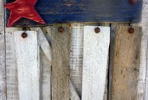 Americana Flags Crafts / by Linda Riedell