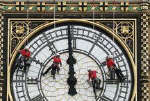 famous clock's / interesting clockÄs / by Sally Dej