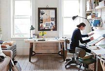 my studio space / by April Heather Davulcu  /  April Heather Art
