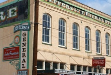 Jefferson, Texas - Our Favorite Getaway / My granddaughter and I go to Jefferson every year and have a blast.  We stay in a bed and breakfast, eat cornbread sandwiches at Kitt's, have root beer floats at the General Store, buy fudge at the Fudge Store and go antique shopping.  Fun and beautiful memories....she especially loves the haunted places,,,,, / by Sherian Simpson