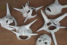 Mascaras papel mache / by Maria Hidalgo Castro