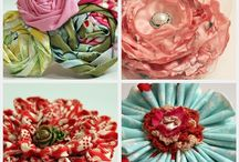 Fabric and Paper Flowers / by Sarah Tuchscherer