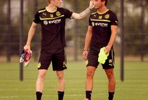 Mario Goetze and Marco Reus  / The German Football Players  / by Barry Fragole