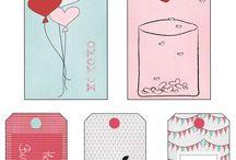 tags and labels - etiquetas para imprimir / by Zenapatch
