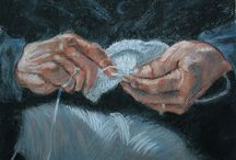 Spinning and knitting in art, life and advertising-Warning! May contain crocheting.  / by Faith Green