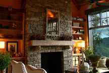 stone fireplace inspiration / by Because I like to decorate