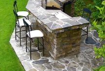 Kitchens-outdoor and BBQ / great examples of out door kitchens and BBQ areas / by Julie Williams