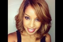 Straight Girl! / Roller sets, stretched, & straight natural hair. / by Andrea E. Bryant