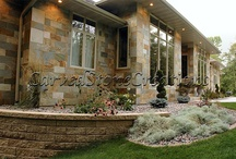 Exterior Stone Cladding and Architectural Detailing / Natural stone is an elegant timeless material that ads value and beauty to any home.  Carved Stone Creations can supply your home with exterior stone cladding and custom designed architectural details like window surrounds, door surrounds, columns, and more.  See some examples of our work on this board. / by Carved Stone Creations