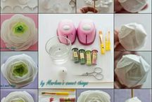 Rice paper flowers / by Lindy Smith