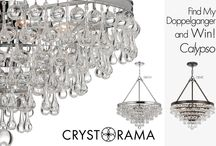 Find My Doppelganger Contest / Enter the Find My Doppelganger Contest for a chance to win a Crystorama chandelier!  Send us a photo of the best lighting doppelganger match up for either Calypso 136-CH or 136-VZ. The photo with the most likes will win and the entrant will receive the Calypso 136 chandelier in the finish of their choice, Polished Chrome or Vibrant Bronze.  Only one photo may be entered per person; credit information must be provided. All photos must be emailed to info@crystorama.com by September 30, 2013. / by Crystorama Lighting