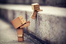 Little Box People / Not sure if there is a story behind these little Amazon box people but the sure are cute / by Shawna Jameson