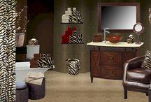 Mocha Zebra Bathroom / Exotic Mocha Zebra Bathware... / by Anything Animals  Decor N Linens