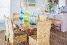 Dining By the Sea / Coastal Dining room and table setting ideas for beach lovers! / by Caron's Beach House