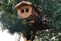Dreamy Tree Houses+log cabins / by Jamie Buck