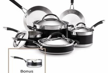 The New Black / Along with striking good looks, Anolon® Ultra Clad elegantly delivers high performance cooking results. It's expertly crafted from three layers of metals, and uniquely engineered to combine polished stainless steel with a wide nonstick band in classic black. / by Anolon® Gourmet Cookware