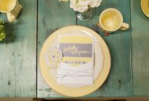Yellow & Gray Bridal Inspiration / by Rachel - Haute Chocolate