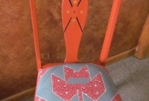 Craft projects / Painted and quilted chair for fundraiser   / by Kathy Kast