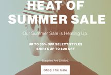 Heat of Summer SALE / We've knocked off 35% off many of your favourites from some of our past collections!  Supplies limited! / by Frank & Oak