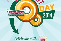 #NationalDoughnutDay2014 / Whether it's powdered, filled or a hot Original Glazed®, stop in for a free doughnut from Krispy Kreme. In honor of National Doughnut Day, on Friday, June 6, stop in to any Krispy Kreme US or Canadian location for a FREE doughnut of any variety--including its world famous Original Glazed® doughnut. / by Krispy Kreme