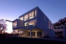. modern homes . / by tonya | the social lush