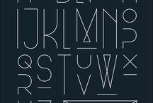 fonts and type / by Paige Richards
