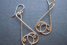 Earrings / Wire and chainmail jewelry / by Karen Fowler