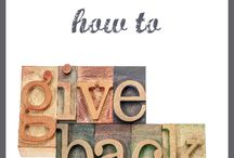 Give Back / by Jen & Sia | Thrifty NW Mom