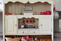 play kitchen project / inspiration for Emma's (future) play kitchen, because handy grandpas are the best :) / by Colleen Shively