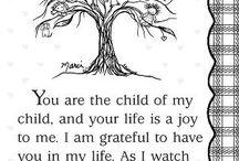 Baby / Voor het kleinkind, waar ik af en toe een beetje over droom. Duurt volgens mij nog jaren, maar dromen mag toch? / by Ingrid Verschelling