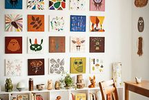 art / kids rooms / by Vintage Art from Anna Hackathorn