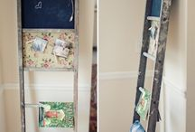Decor: Ladder Inspirations! / Many uses for an old ladder. / by Designed Decor