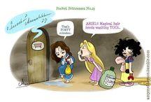 Pocket Princesses. / Disney Princess Art / by CayCey Brundage