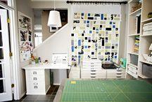 Craft room & storage ideas / by Jeanne Collins