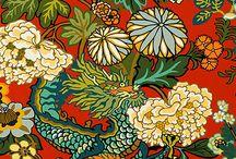 Chiang Mai Dragon / One of Schumacher's best-loved designs, Chiang Mai Dragon was originally derived from an exuberant 1920's Art Deco era block print.  / by Schumacher — Home Décor