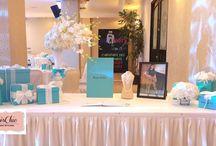 Tiffany & Co Inspired Party Ideas / Tiffany & Co Inspired party ideas. Tiffany blue party ideas. #tiffanyparty / by Seshalyn's Party Ideas